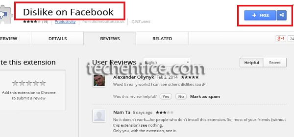 Facebook Dislike extension for Google Chrome
