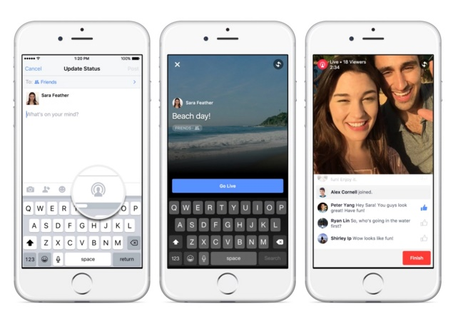 Facebook ready to introduce its new Live Video and Collages