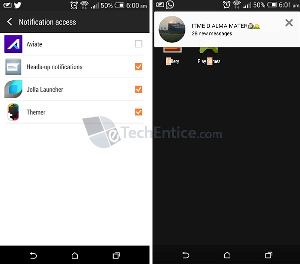 Heads Up Notification: a flavor of Android L in your Android version