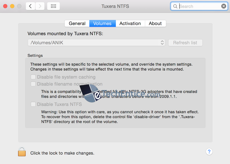Tuxera NTFS Features