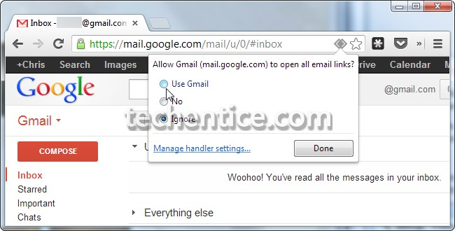 chrome uae gmail as default