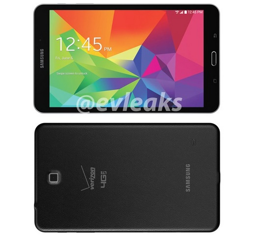 Samsung Galaxy Tab 4 8.0 inch for Verizon leaks out