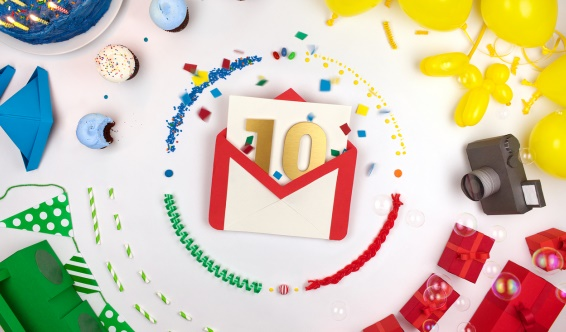 To Gmail : Happy 10th Birthday - Tech Entice