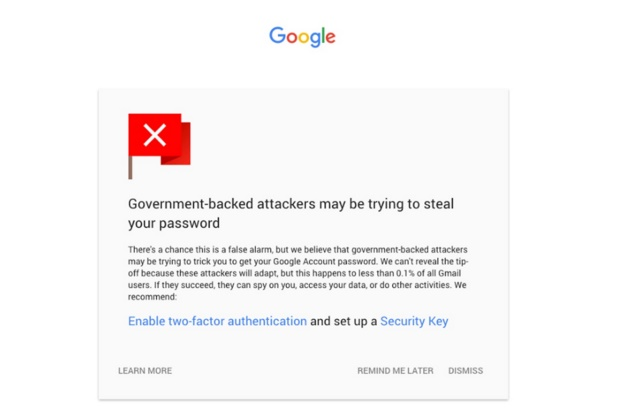Google s new notifications for Gmail warn you of security threats