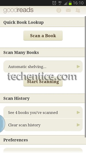 goodreads barcode scan