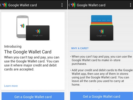 google wallet debit card details