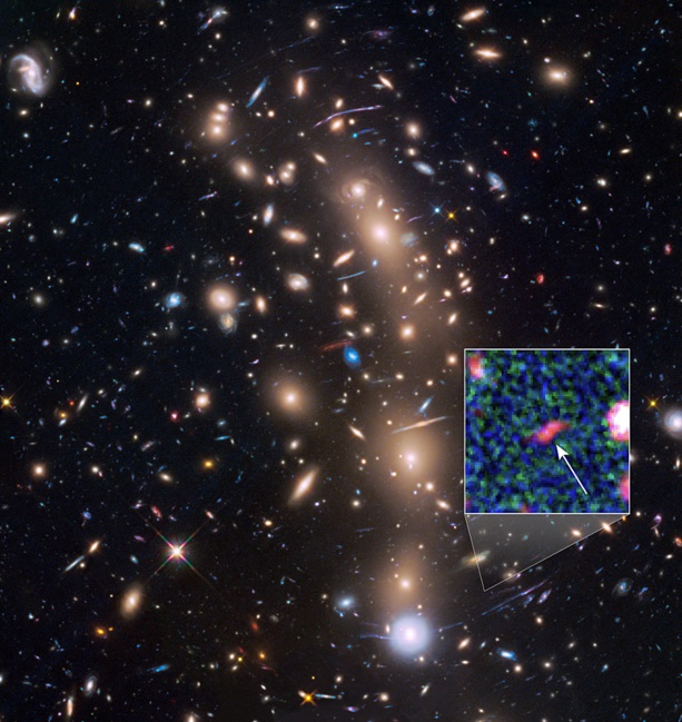 NASA's Hubble and Spitzer Space telescope observes images of the faintest Galaxy in the early universe