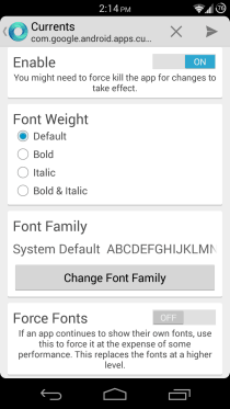 Android App ont changer