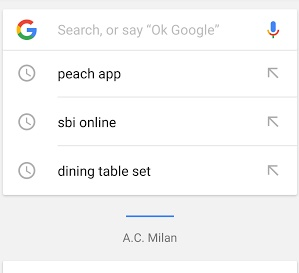 search entry google app