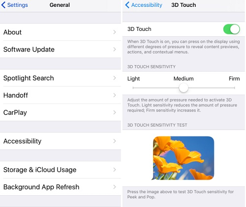 How To Manage 3D Touch Sensitivity On Your iPhone
