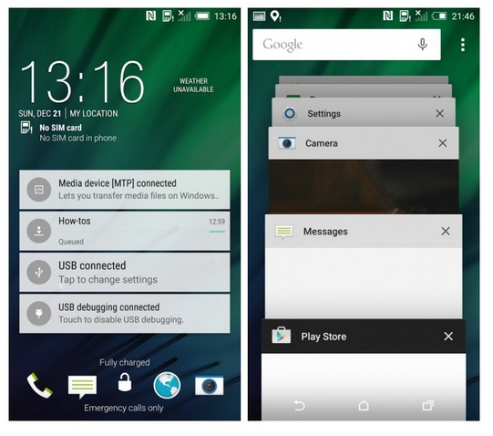 Glipmses of Android Lollipop and Sense 6 on HTC One M8 leaked images