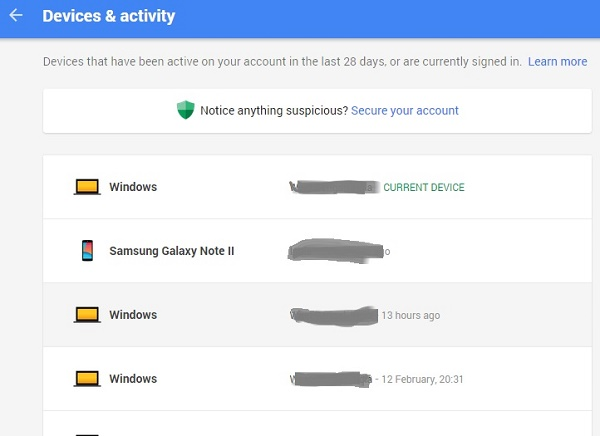 How to check which devices are signed into your Google Account