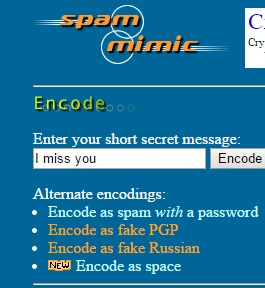 Defying Encryption, Encoded Secret Messages can be sent In Fake Spam