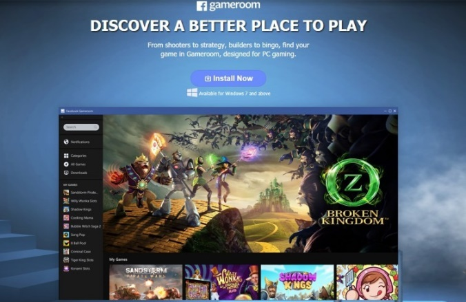 Facebook to compete Steam with Gameroom platform
