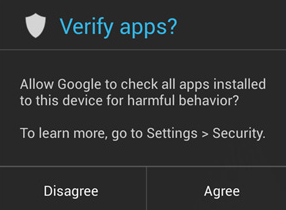 Google Verify Apps