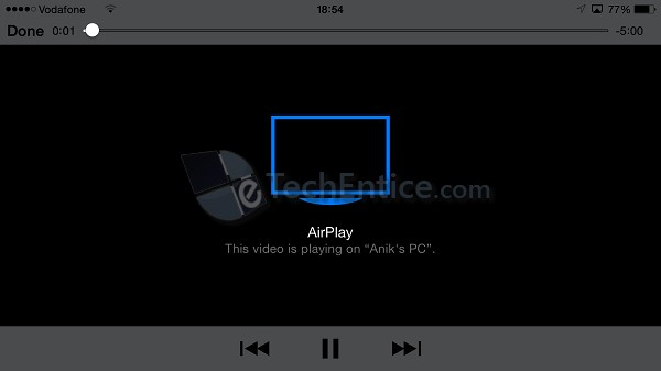 Video Playing using AirPlay