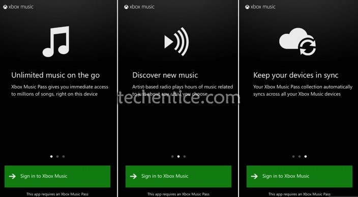 Xbox music app for Android and IOS