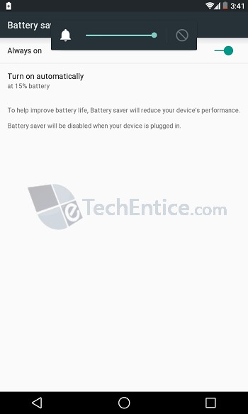 Battery Saver Auto Turn on Android L