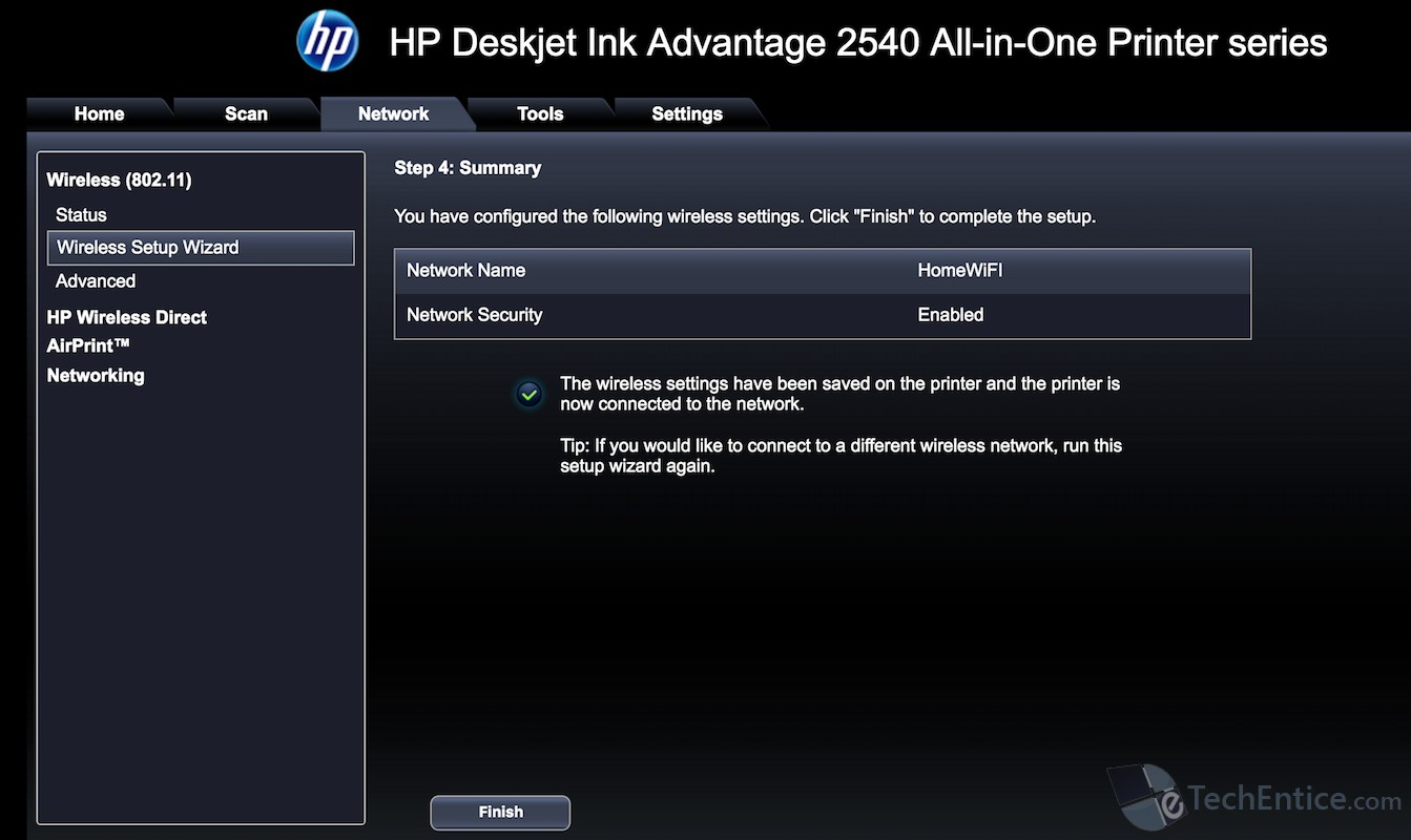 How to setup HP Deskjet Wireless Printer or any Wireless Network