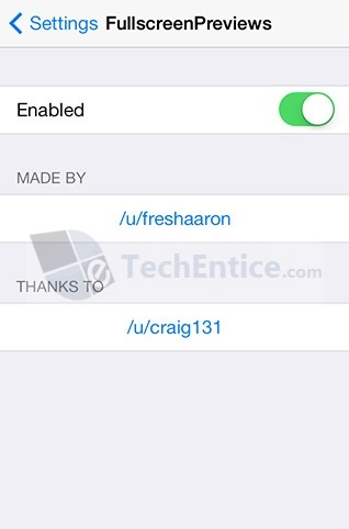 FullscreenPreviews Settings