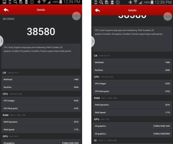 Galaxy S5 Exynos beats Snapdragon 801