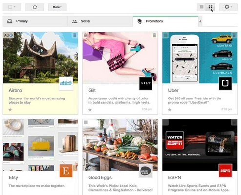 Google's experimental promotional view turns emails into higher quality advertisements