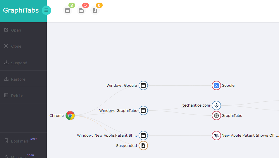 GraphiTabs - A Smart way to organize your Web [Chrome]