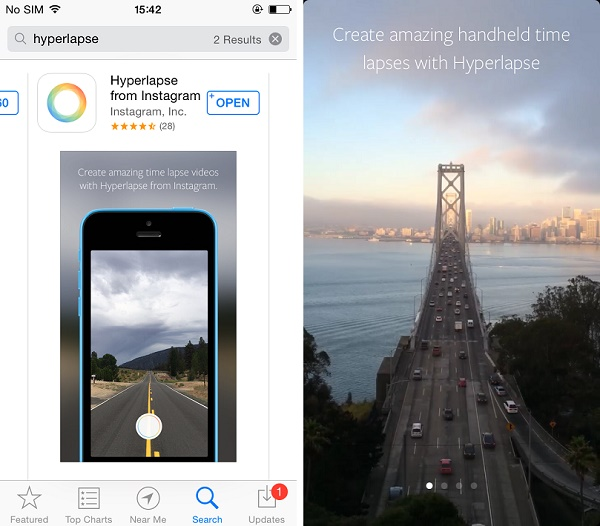 Instagram's Hyperlapse -the separate video editing app