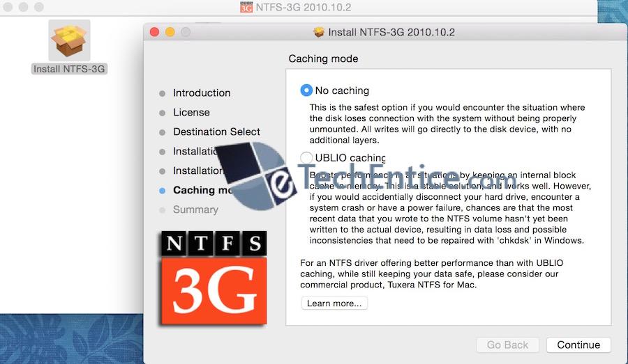 InstallNTFS 3G