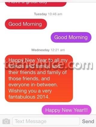 Messages Customiser Bubbles