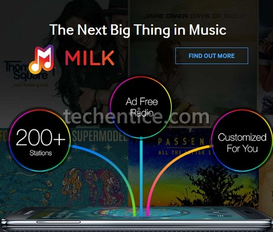 Slacker-powered Milk Music streaming radio of Samsung
