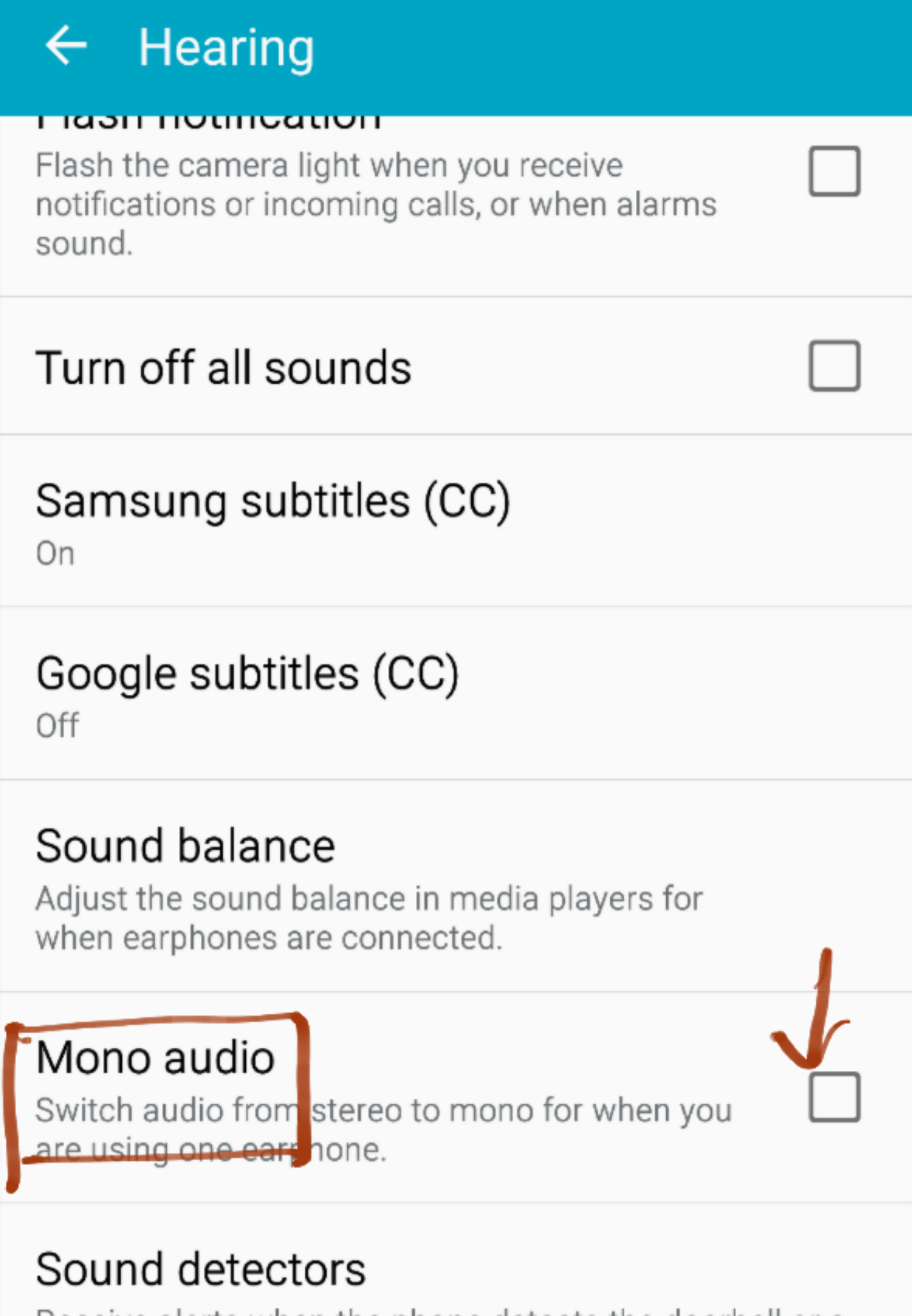 Apple iOS mono audio