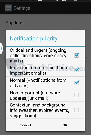 Heads Up Notification Priority