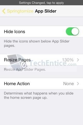 Springtomize App Slider