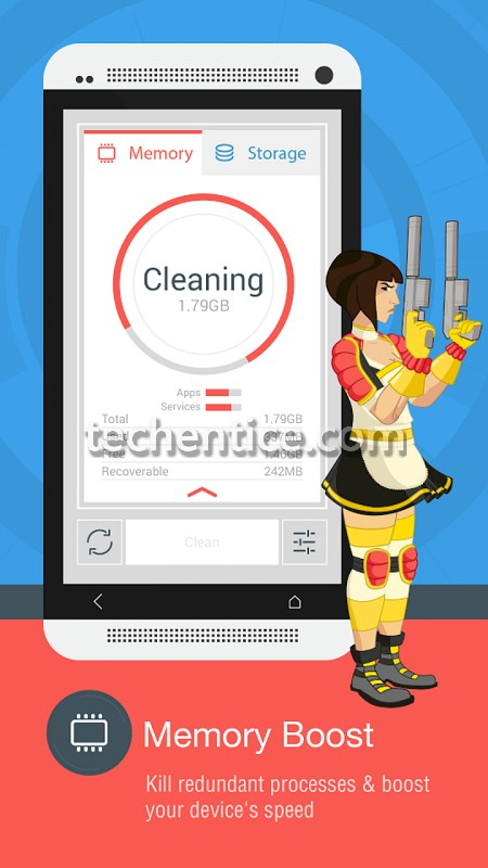 Speed up your Android phone with The Cleaner
