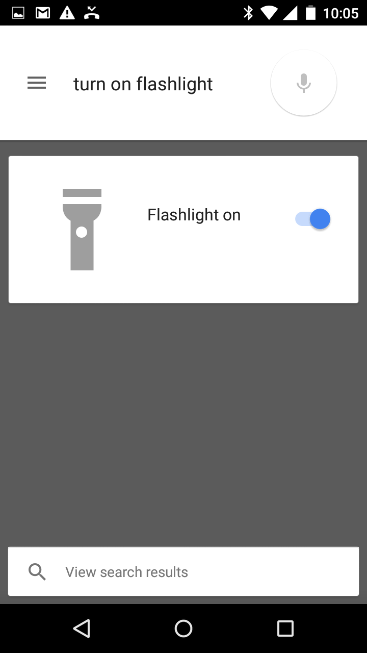 Turn on Flashlight