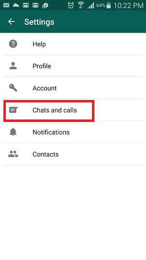 chats and calls