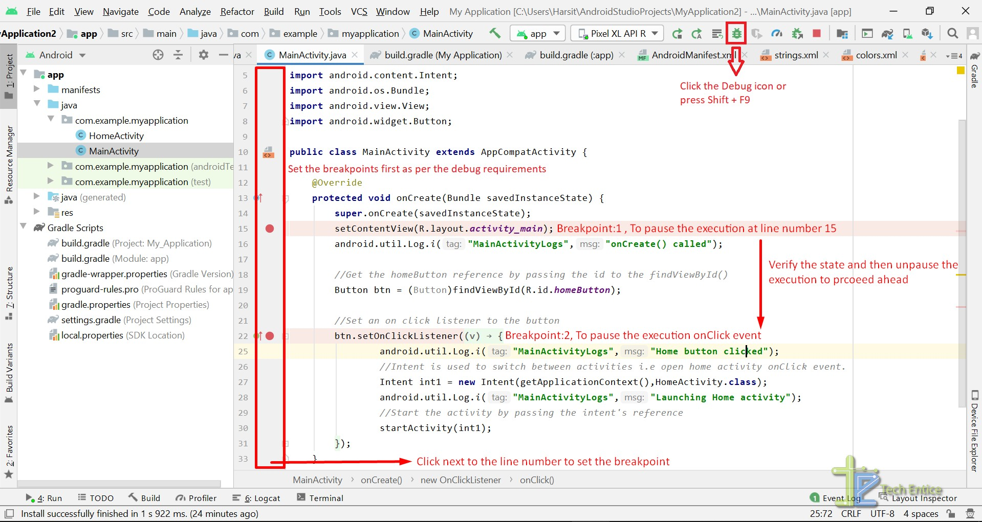 Explore Gradle, ADB Debug Tool, Logcat, Lint Tool In Android Studio On Windows 10