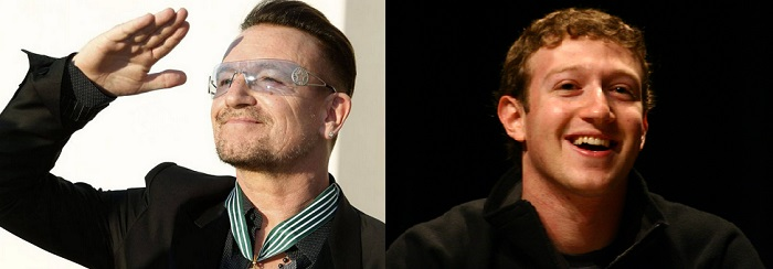 Bono and Mark Zuckerberg to help United Nations get internet connectivity