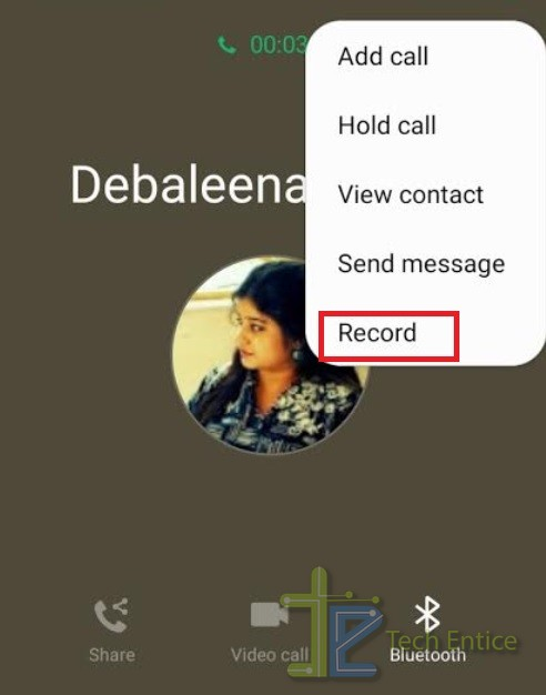 call record android one UI