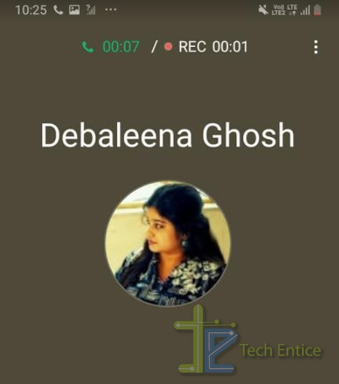 android one UI call record