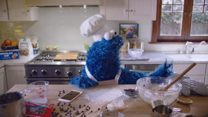 Apple appoints this cute Cookie Monster as its new spokesperson