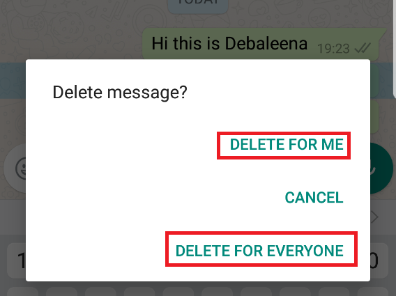 WhatsApp enables the Delete for Everyone feature