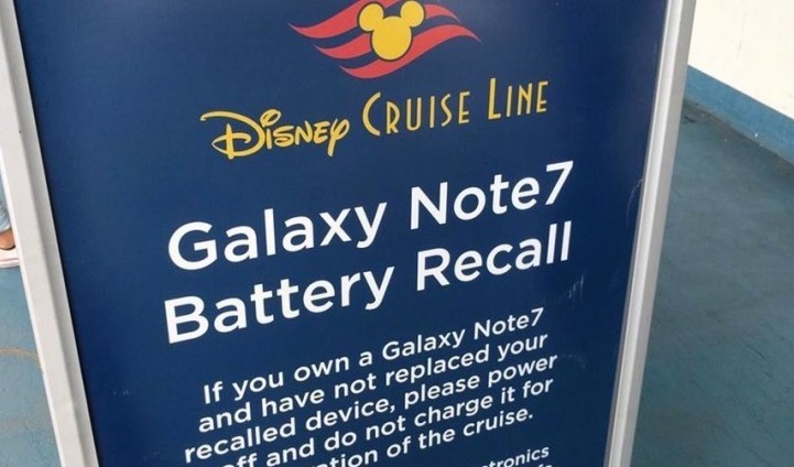 Cruise companies are banning Samsung Note 7 on their cruises