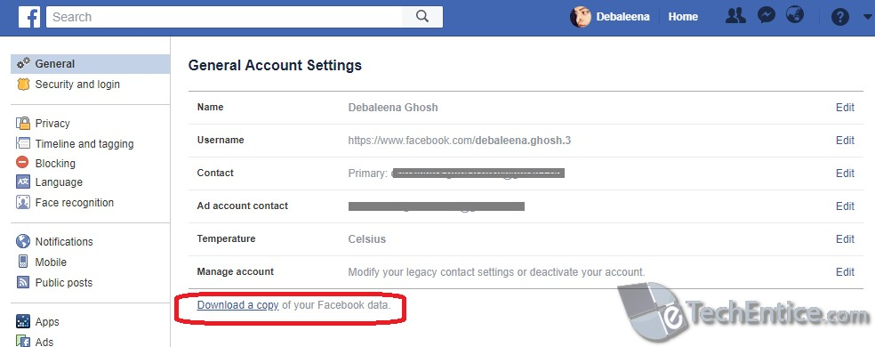 download a copy of fb data