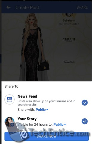 facebook posts and stories