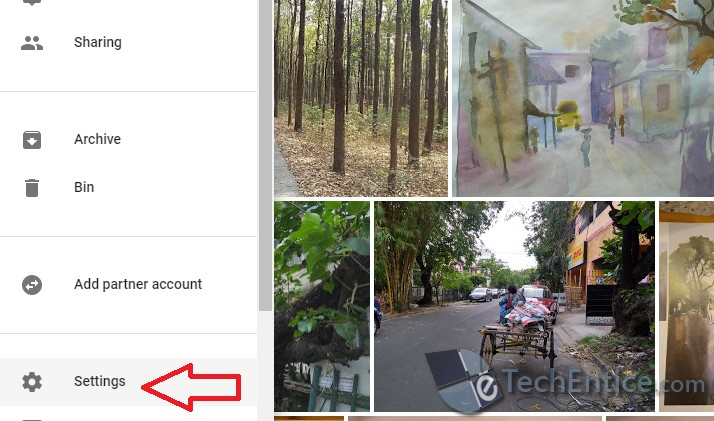 how to add location google photo album