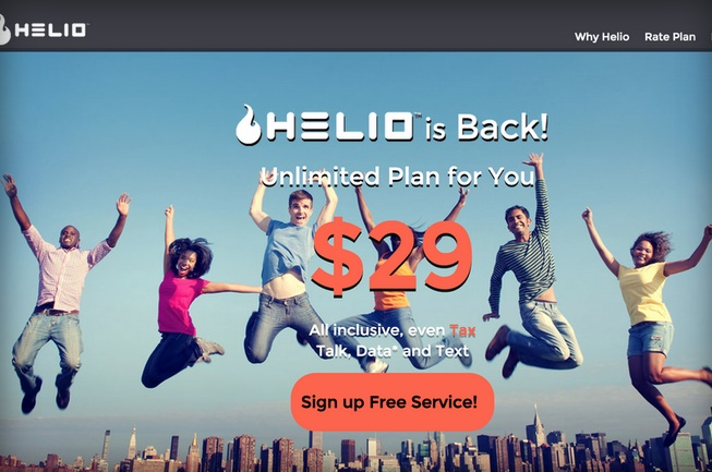 Virtual mobile network Helio is back