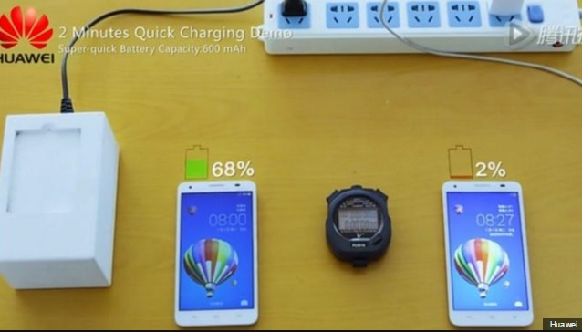 Huawei unveils Quick Charge Technology