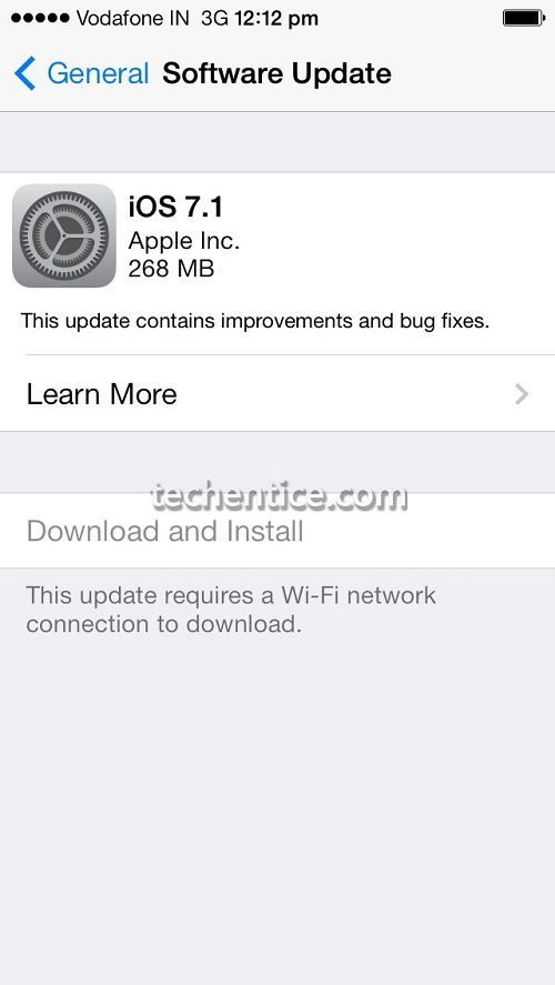 Apple iOS 7.1 released